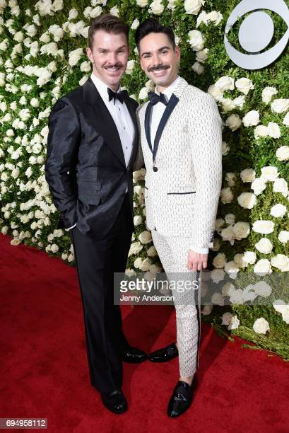 Denis Jones and Michael Strassheim attend the 2017 Tony Awards at Radio City Music Hall on June 11 2017 in New York City