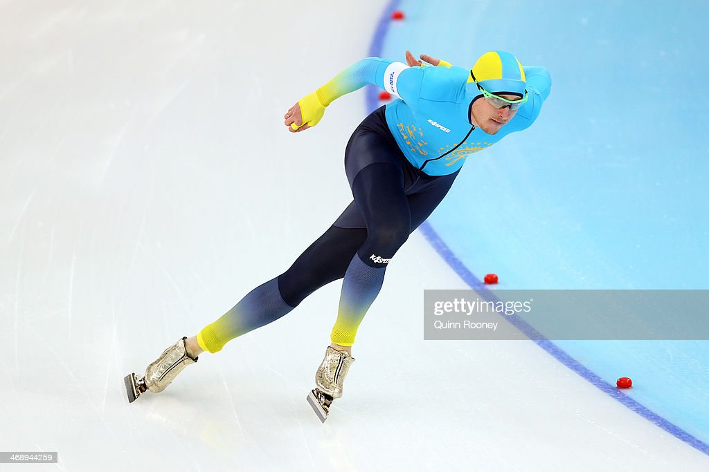 <a gi-track='captionPersonalityLinkClicked' href=/galleries/search?phrase=Denis+Kuzin&family=editorial&specificpeople=6746805 ng-click='$event.stopPropagation()'>Denis Kuzin</a> of Kazakhstan competes during the Men's 1000m Speed Skating event during day 5 of the Sochi 2014 Winter Olympics at at Adler Arena Skating Center on February 12, 2014 in Sochi, Russia.