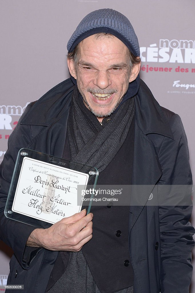 Denis Lavant attends the Cesar 2013 Nominee Lunch at Le Fouquet's on February 2, 2013 in Paris, France.