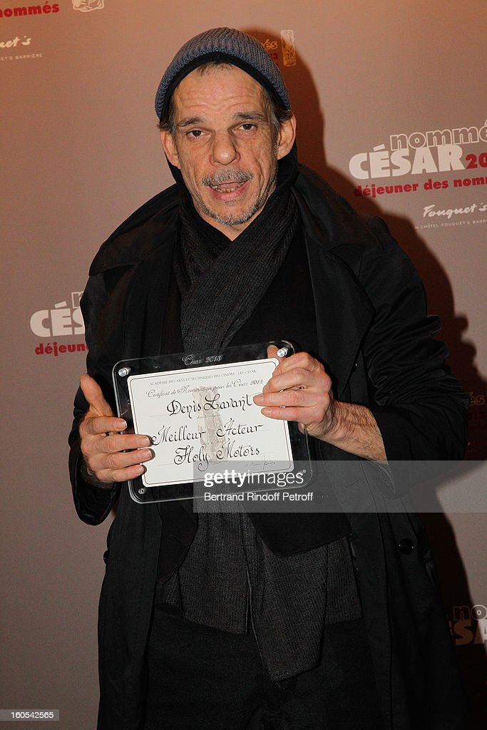 <a gi-track='captionPersonalityLinkClicked' href=/galleries/search?phrase=Denis+Lavant&family=editorial&specificpeople=2992486 ng-click='$event.stopPropagation()'>Denis Lavant</a> attends the Cesar 2013 nominne lunch at Le Fouquet's on February 2, 2013 in Paris, France.