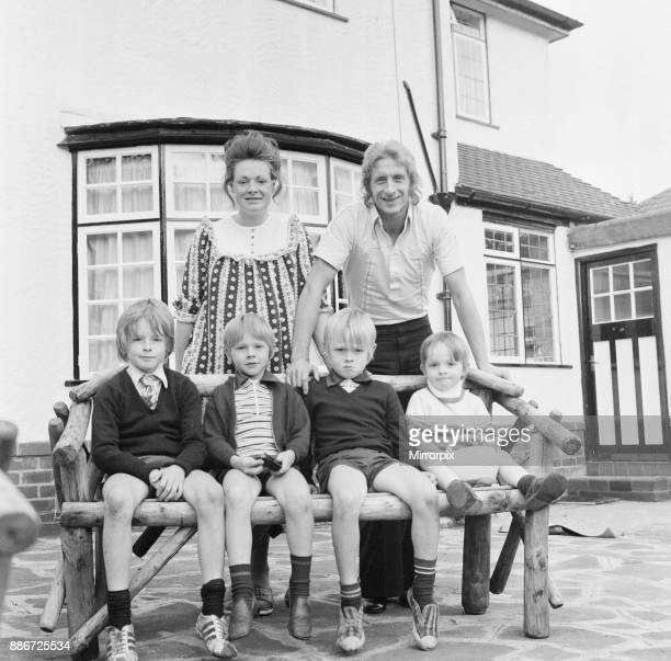 Denis Law Manchester City football player pictured at home with family in Bowden Cheshire 21st September 1973 Wife Diana and boys Gary Andrew Robert...