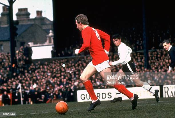 Denis Law of Manchester United in action during the League Division One match against Fulham at Craven Cottage in London Mandatory Credit Allsport UK...