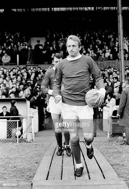 Denis Law of Manchester United prior to their First Division league match against Chelsea at Stamford Bridge in London 12th March 1966 Chelsea won 20