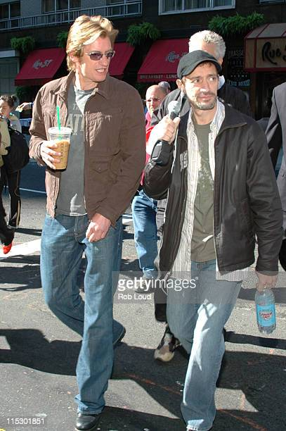 Denis Leary and Anthony Cumia during Denis Leary with Opie and Anthony May 23 2006 in New York City New York United States
