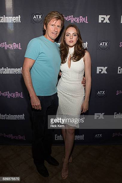 Denis Leary and Elizabeth Gillies attend Entertainment Weeklys After Dark party for FXs SexDrugsRockRoll at the ATX Television Festival in Austin TX...