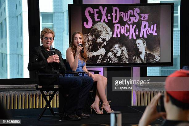 Denis Leary and Elizabeth Gillies attend the AOL Build Speaker Series to discuss their FX show 'SexDrugsRockRoll' at AOL Studios In New York on June...
