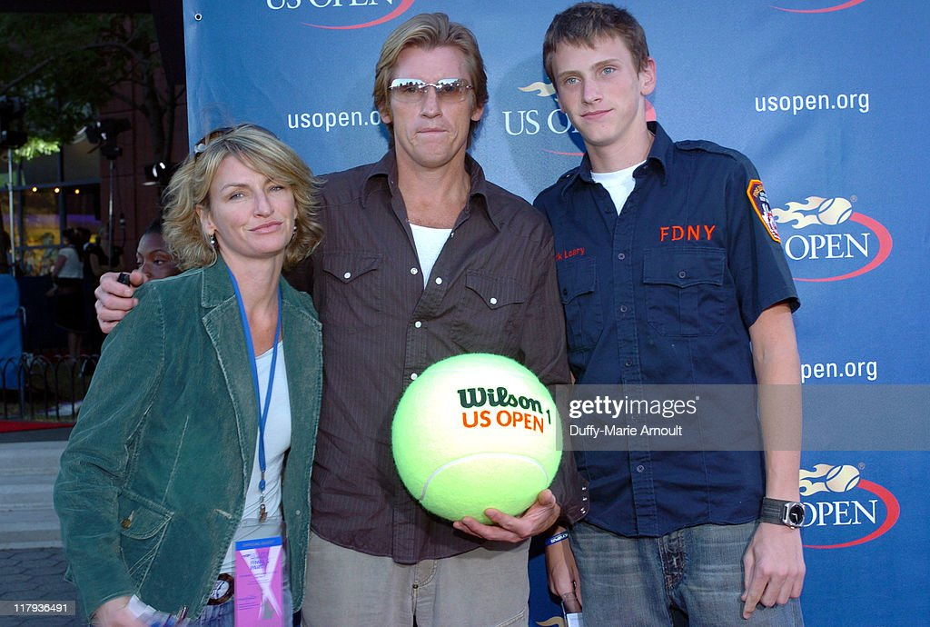 Denis Leary and family during 2005 US Open Women's Final Arrivals September 10 2005 at Mojito Restaurant at the USTA Tennis Center in Flushing New...