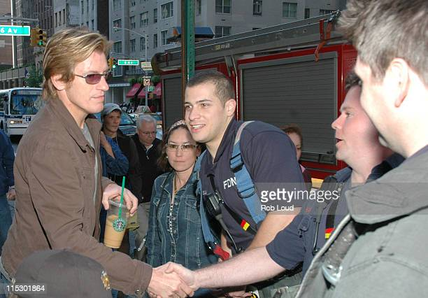 Denis Leary and FDNY members during Denis Leary with Opie and Anthony May 23 2006 in New York City New York United States