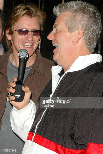Denis Leary and Lenny Clarke during Denis Leary with Opie and Anthony May 23 2006 in New York City New York United States