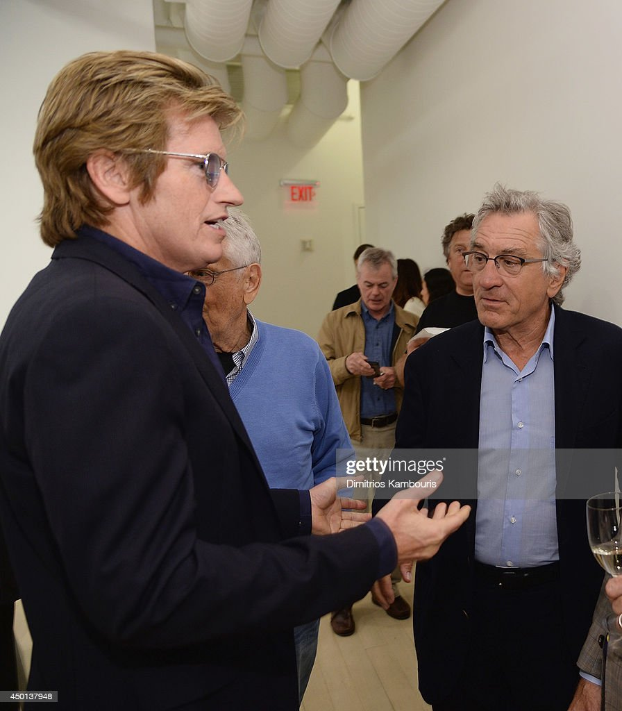 Denis Leary and Robert De Niro attend 'Remembering The Artist Robert De NiroSr' New York Screening After Party at The Museum of Modern Art on June 5...