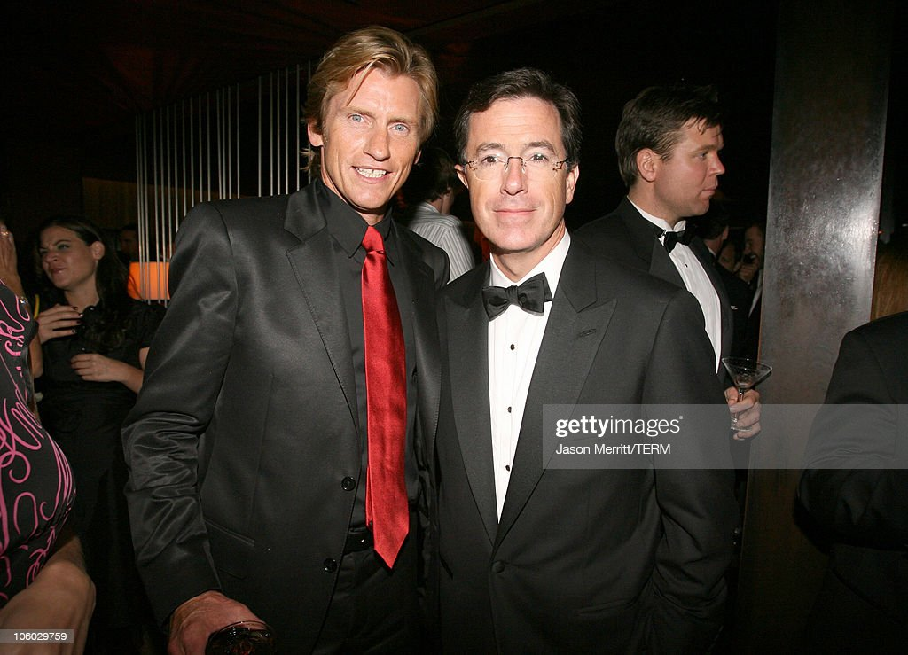 Denis Leary and Stephen Colbert during 58th Annual Primetime Emmy Awards Comedy Central Emmy Party at The Falcon in Hollywood California United States