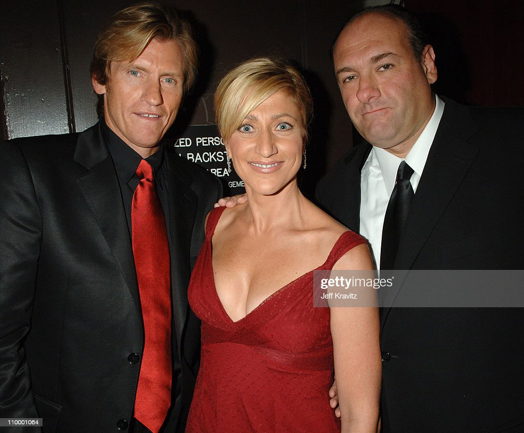 Denis Leary Edie Falco and James Gandolfini during 58th Annual Primetime Emmy Awards Backstage at The Shrine Auditorium in Los Angeles California...