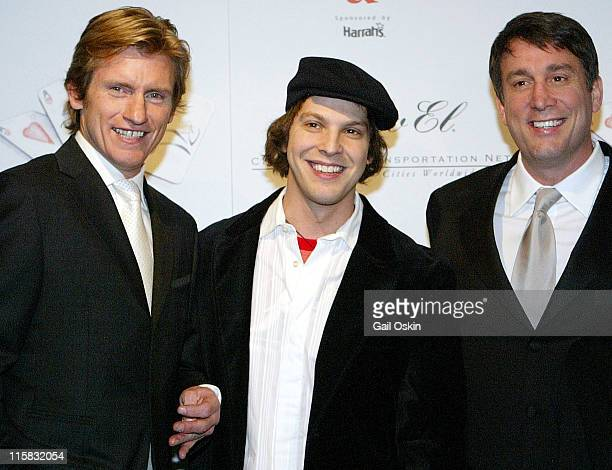 Denis Leary left Gavin DeGraw center and Cam Neely right at the Cam Neely Foundation Fundraiser Monte Carlo Night 'Betting On A Cause And A Cure'...