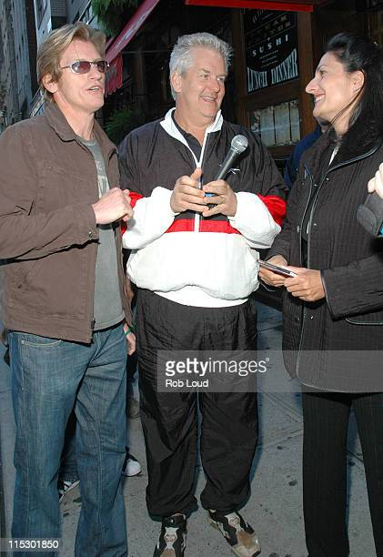 Denis Leary Lenny Clarke and a fan during Denis Leary with Opie and Anthony May 23 2006 in New York City New York United States