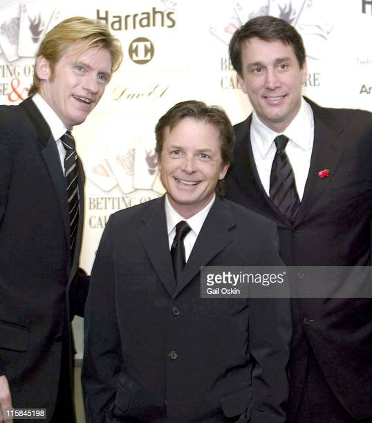 Denis Leary Michael J Fox and former Boston Bruin Cam Neely during the 2nd Annual Monte Carlo Weekend at the Charles Hotel in Cambridge MA Saturday...