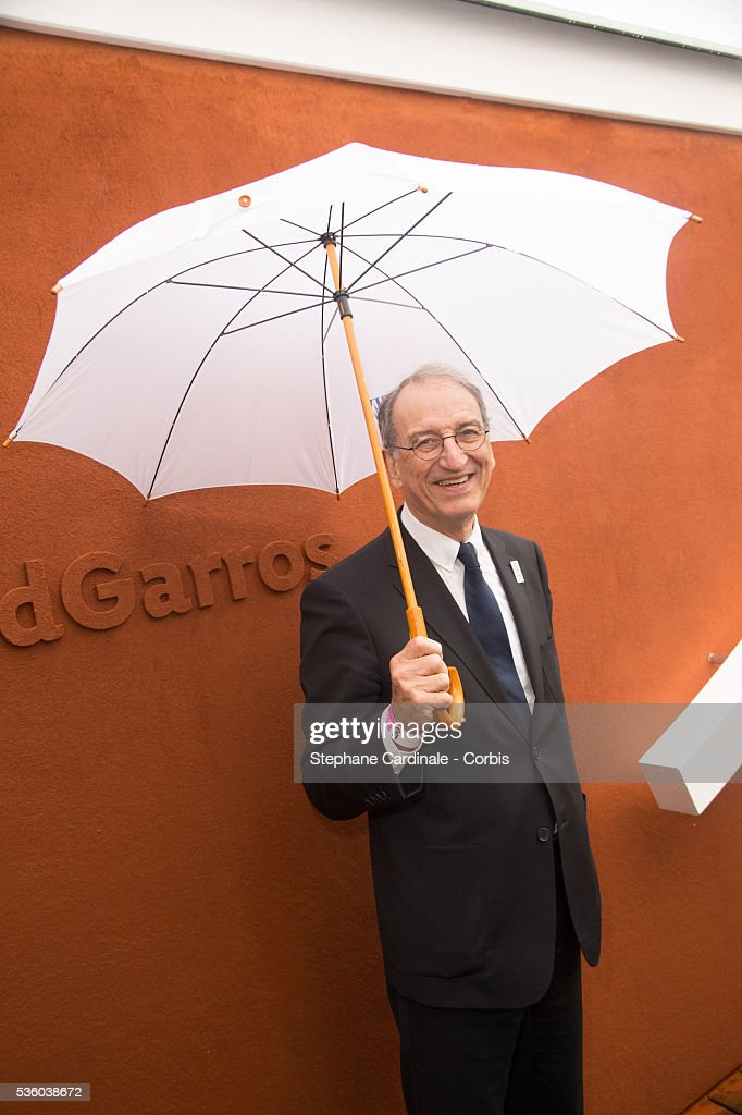 Denis Masseglia (president of the CNOSF) attends day ten of the 2016 French Open at Roland Garros on May 31, 2016 in Paris, France.