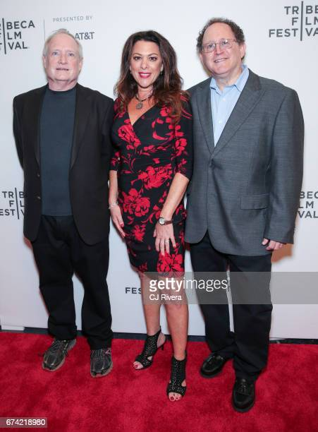 Denis McNamara Ellen Goldfarb and Roger Senders attend the premiere of 'Dare to be Different' during the 2017 Tribeca Film Festival at Spring Studios...