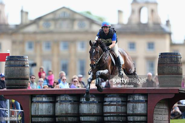 Denis Mesples of France riding Oregon De La Vigne in action during the Cross Country Test of the Badminton Horse Trials on May 5 2013 in Badminton...
