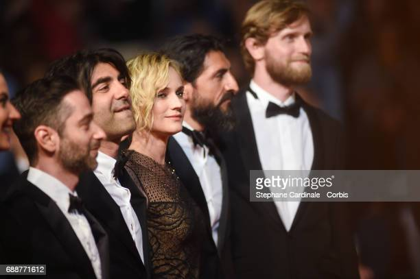 Denis Moschitto director Fatih Akin Diane Kruger Numan Acar and Ulrich Brandhoff attend the 'In The Fade ' screening during the 70th annual Cannes...