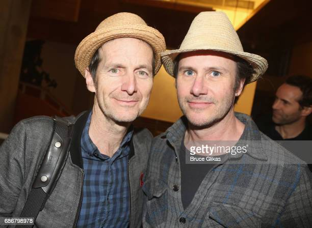 Denis O'Hare and Josh Hamilton pose at the opening night party for The New Group Theater Company's new play 'Whirligig' at Social Drink and Food Club...
