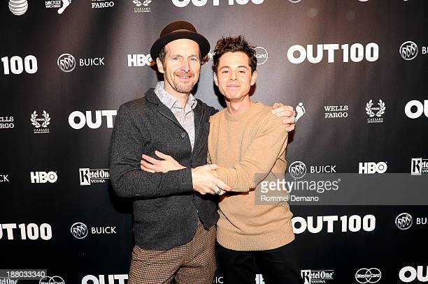 Denis O'Hare and Paul Iacono attend the 2013 OUT100 gala at Terminal 5 on November 14 2013 in New York City
