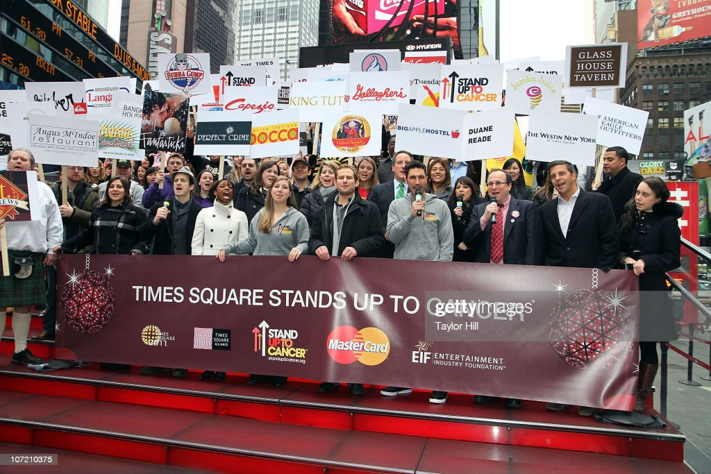 Stand Up To Cancer Times Square News Year's Eve Initiative Launch