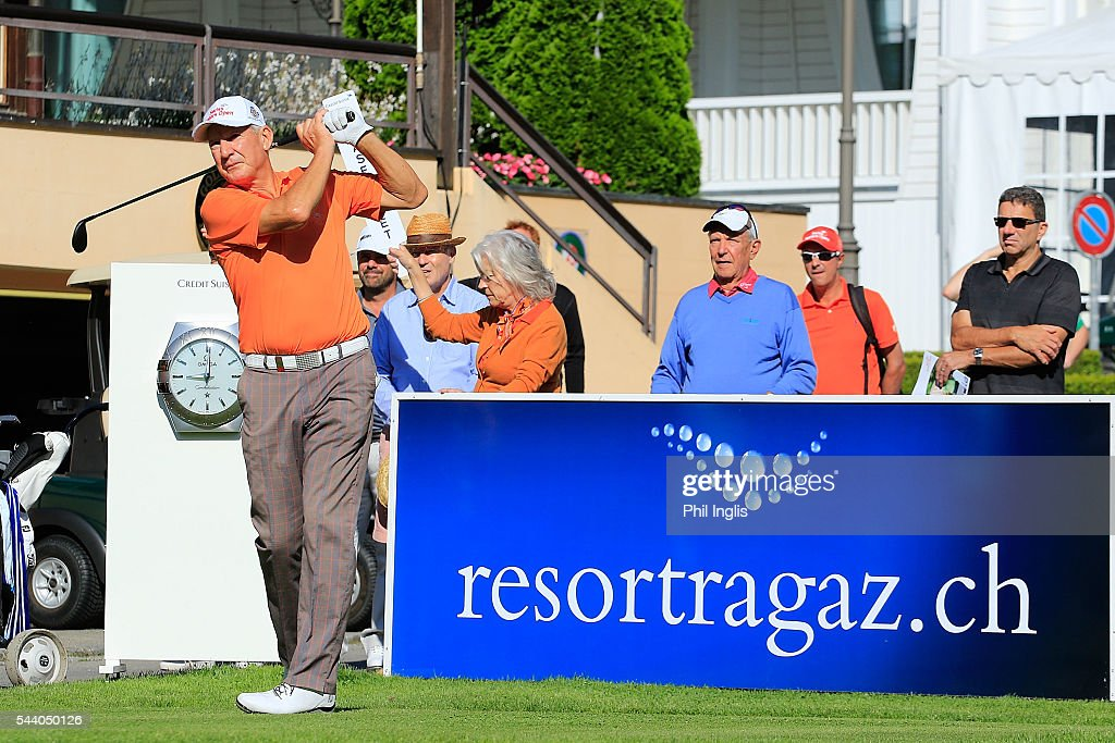 Denis O'Sullivan of Ireland in action during the the first round of the Swiss Seniors Open played at Golf Club Bad Ragaz on July 1, 2016 in Bad Ragaz, Switzerland.