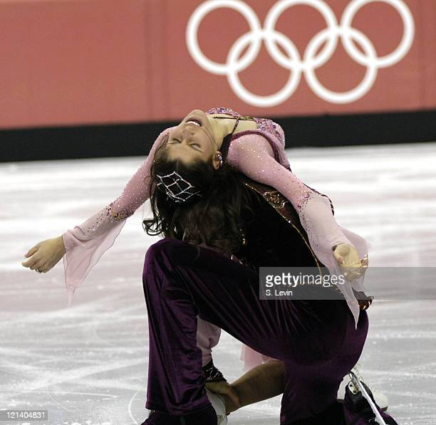 Denis Petukhov and Melissa Gregory of the United States during the Ice Dancing Free Skate Program at the 2006 Olympic Games at the Palavela in Torino...