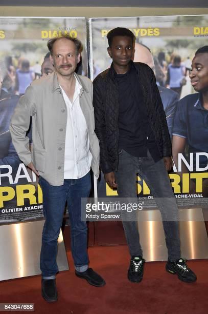 Denis Podalydes and Abdoulaye Diallo attend the 'Les Grands Esprits' Paris Premiere at UGC Cine Cite des Halles on September 5 2017 in Paris France