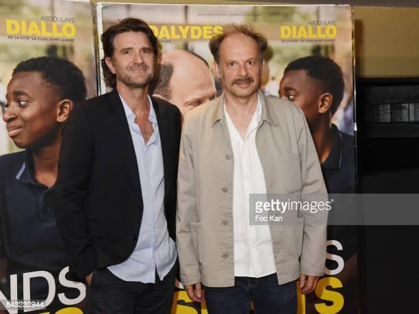 Denis Podalydes and Director Olivier Ayache Vidal attend 'Les Grands Esprits' Premiere at UGC CiteCine Les Halles on September 5 2017 in Paris France
