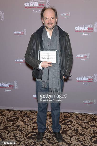 Denis Podalydes attends the Cesar 2013 Nominee Lunch at Le Fouquet's on February 2 2013 in Paris France
