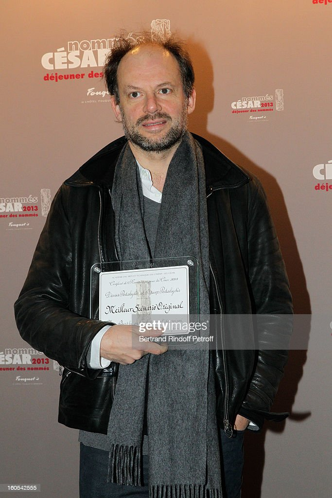 Denis Podalydes attends the Cesar 2013 nominne lunch at Le Fouquet's on February 2, 2013 in Paris, France.