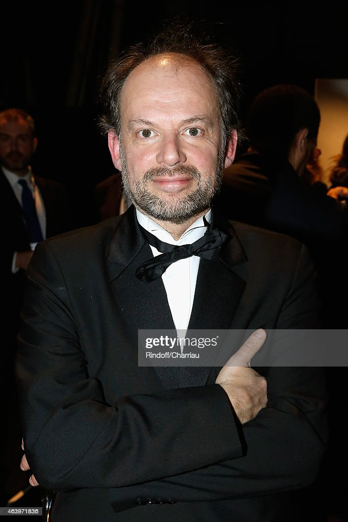 Denis Podalydes poses backstage during the 40th Cesar Film Awards 2015 at Theatre du Chatelet on February 20, 2015 in Paris, France.