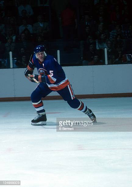 Denis Potvin of the New York Islanders skates on the ice during an NHL game circa 1980