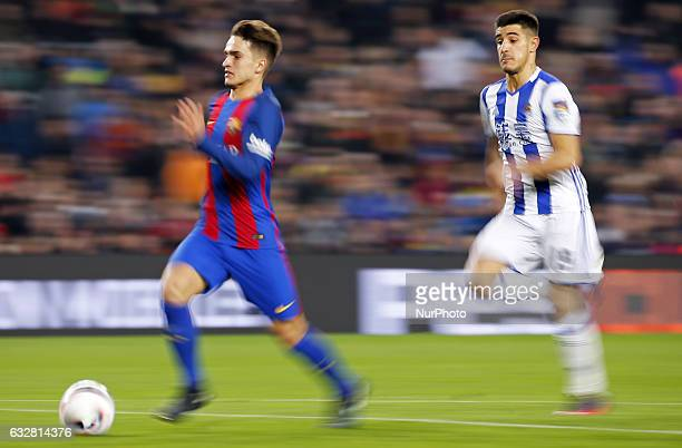 Denis Suarez during the 1/4 final King Cup match between FC Barcelona v Real Sociedad in Barcelona on January 26 2017