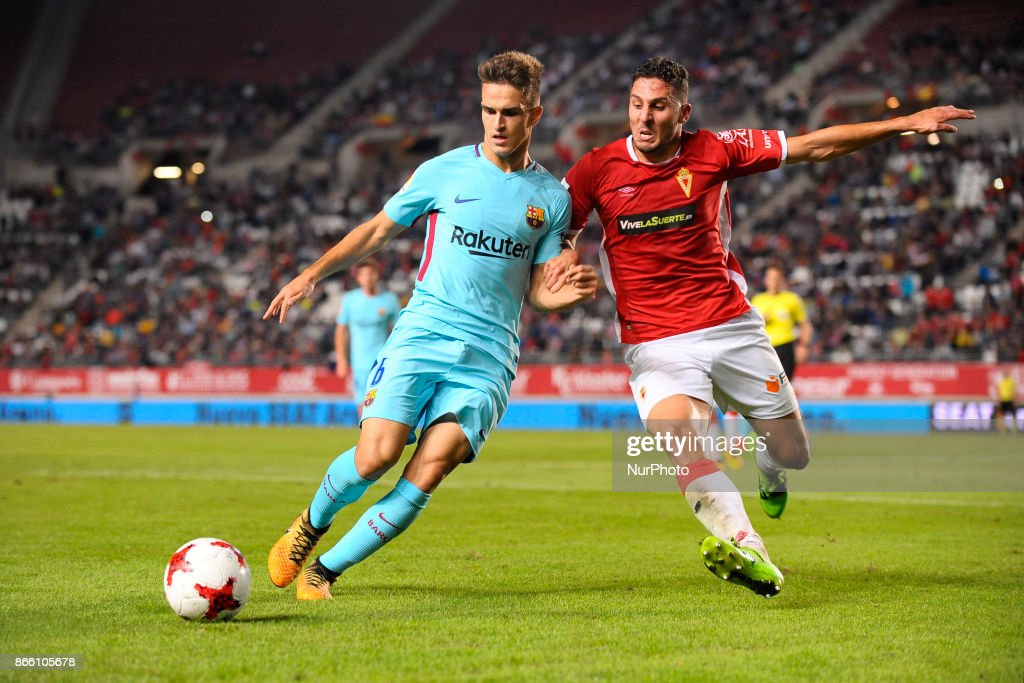 Denis Suarez during the match between Real Murcia vs. FC Barcelona, Copa del Rey 2017/18 in Nueva Condomina Stadium, Murcia, Spain on 24th of October 2017.