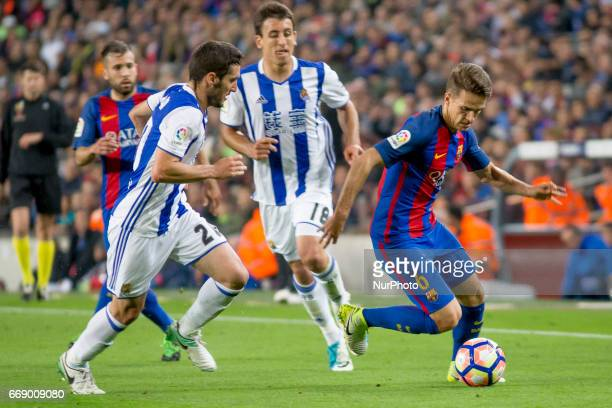 Denis Suarez during the Spanish League match between FC Barcelona and Real Sociedad in Barcelona on April 15 2017
