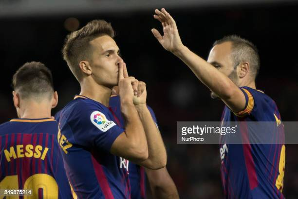 Denis Suarez during the spanish league match between FC Barcelona and Eibar at Camp Nou Stadium in Barcelona Spain on September 19 2017