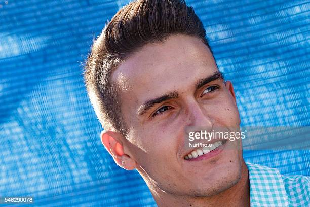 Denis Suarez in the match between Spain and France during Euro Beach Soccer League on July 9 2016 in Sanxenxo Spain