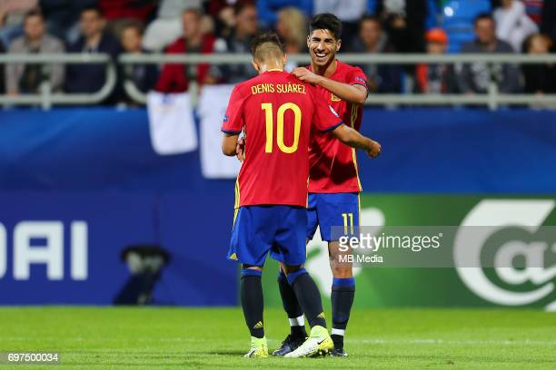Denis Suarez Marco Asensio during the UEFA European Under21 match between Spain and FYR Macedonia on June 17 2017 in Gdynia Poland