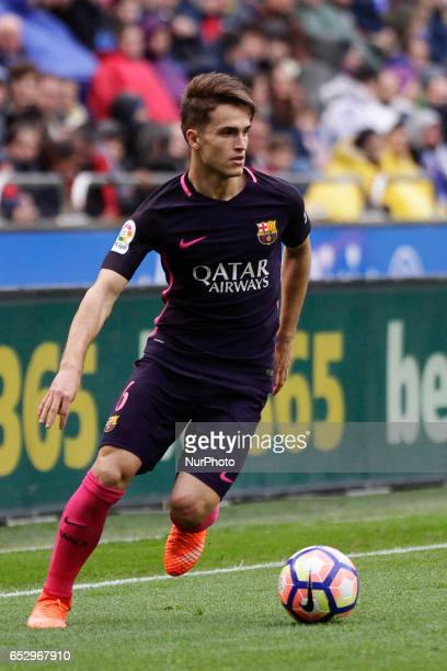 Denis Suarez midfielder of FC Barcelona during the La Liga Santander match between Deportivo de La Coruña and FC Barcelona at Riazor Stadium on March...