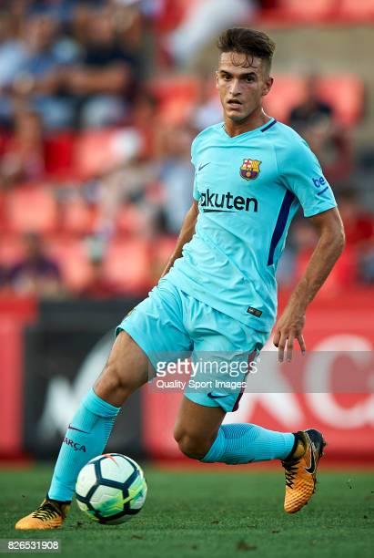 Denis Suarez of Barcelona in action during the preseason friendly match between Gimnastic de Tarragona and FC Barcelona at Nou Estadi de Tarragona on...