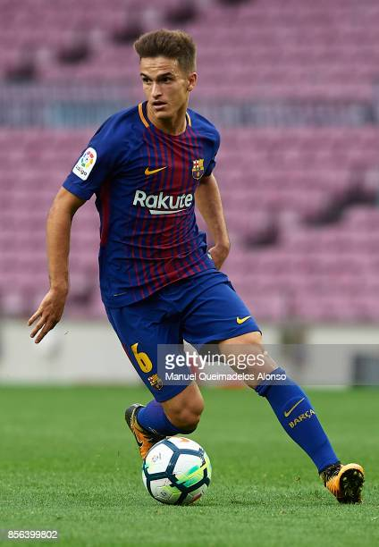 Denis Suarez of Barcelona runs with the ball during the La Liga match between Barcelona and Las Palmas at Camp Nou on October 1 2017 in Barcelona...