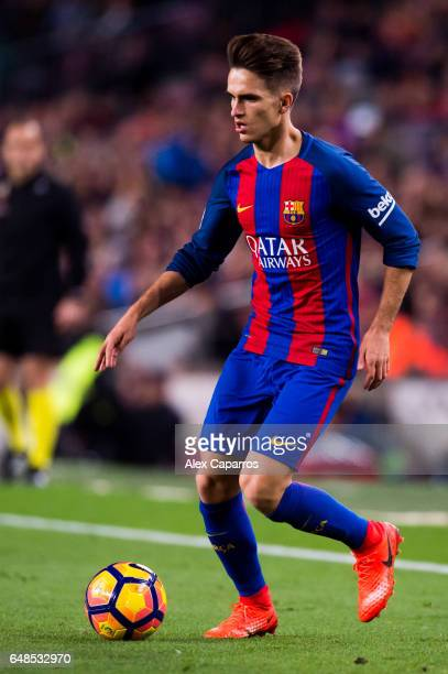Denis Suarez of FC Barcelona conducts the ball during the La Liga match between FC Barcelona and RC Celta de Vigo at Camp Nou stadium on March 4 2017...
