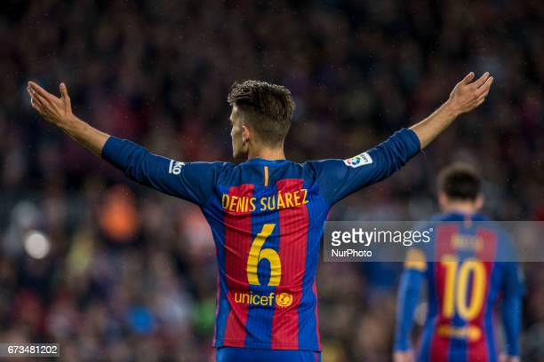 Denis Suarez of FC Barcelona during the Spanish championship Liga football match between FC Barcelona vs CA Osasuna at Camp Nou stadium on April 26...