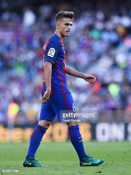 Denis Suarez of FC Barcelona looks on during the La Liga match between FC Barcelona and RC Deportivo La Coruna at Camp Nou stadium on October 15 2016...