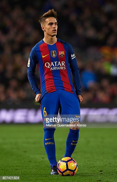 Denis Suarez of FC Barcelona looks on during the La Liga match between FC Barcelona and Real Madrid CF at Camp Nou stadium on December 03 2016 in...