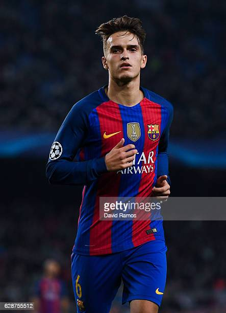 Denis Suarez of FC Barcelona looks on during the UEFA Champions League match between FC Barcelona and VfL Borussia Moenchengladbach at Camp Nou on...