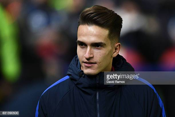 Denis Suarez of FC Barcelona looks on prior to the kickoff of the La Liga match between Villarreal CF and FC Barcelona at Estadio de la Ceramica...
