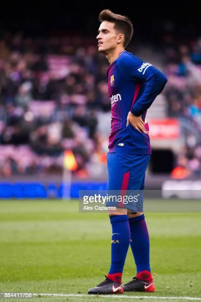 Denis Suarez of FC Barcelona reacts during the La Liga match between FC Barcelona and Celta de Vigo at Camp Nou on December 2 2017 in Barcelona Spain